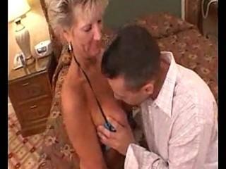 sexy busty aged cougar oral pleasures