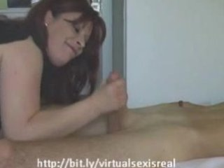 german mother i brunette sucks and fucks a young