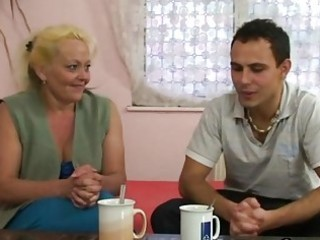 blond granny acquires her unshaved muff slammed
