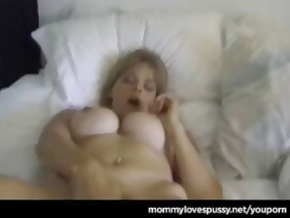 golden-haired cougar shows her youthful