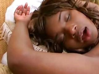 Black teen toy sex with ebony milf babe