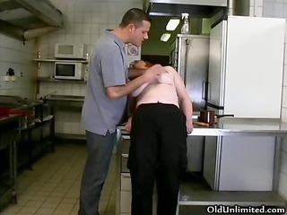 ribald blond housewive gets her pussy