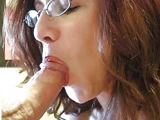 redhead momma with biggest mounds and glasses