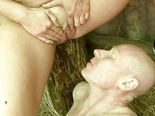 aged couple pissing and fucking