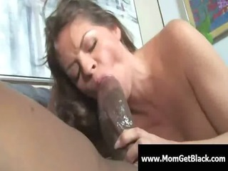 mom going dark - busty milf interracial oral-sex