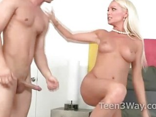 tanned milf sucks college guys wang and gives him