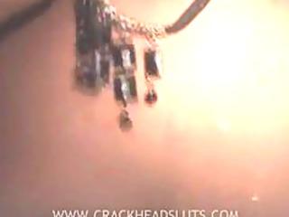 obscene crackhead acquires cum on her mounds