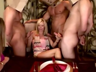 cfnm milfs blowjob party filled with youthful