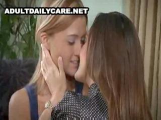 pretty mature lesbian seduces youthful beauty -