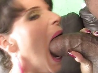 breasty milf riding a dark penis to save her son