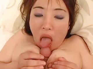 Japanese milf titty fucks