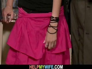 old hubby needs aid to bang his juvenile wife