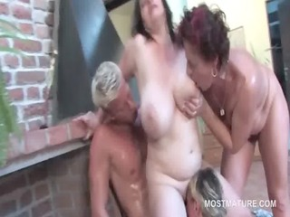 concupiscent mature fucked doggy style in outdoor