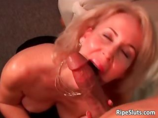lascivious mature golden-haired receives soaked