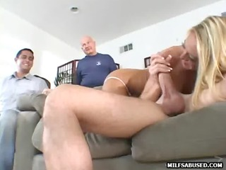 this hot blonde mother i is sucking and fucking