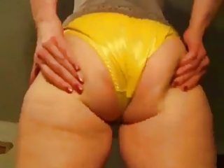 Wife in satin panties