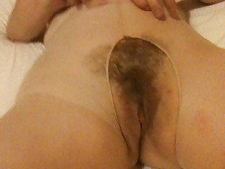 hairy mum in hose