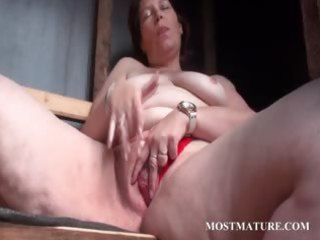 outdoor pussy masturbation with older