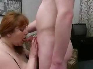 big milf from europe sucks on a pounder and then
