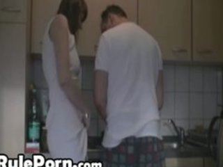 bored wife kitchen sex with her lover