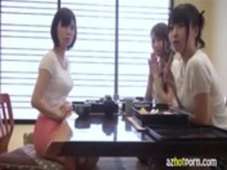 azhotporn.com - triple wives cooking japanese