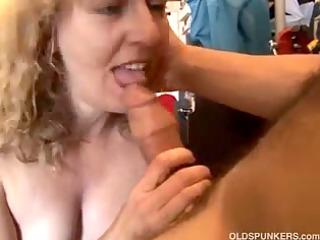 pretty aged non-professional likes sucking pecker