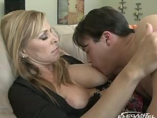 milf breastfeeds and sucks juvenile dude