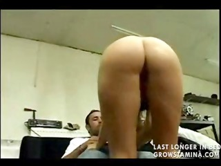 busty brunette hair gives mechanic a reward for