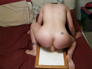 wife riding sextoy hard