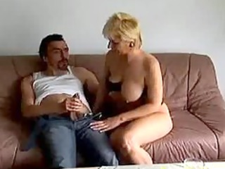 mad old mommy receives drilled hard and jizz flow