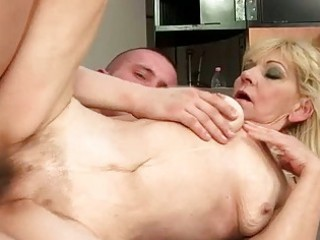 granny with unshaved twat getting fucked