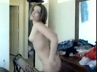 short-haired wife acquires undressed