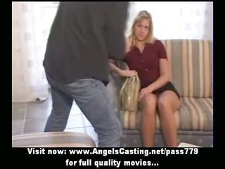 dilettante lovely blond bride nice talking and