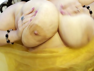 ssbbw anika q-cup - enormous on back jiggles