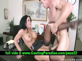 mason moore brunette hard anal fucking and gagging