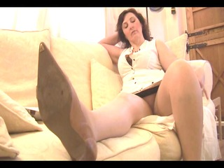 busty aged mother i panty tease and striptease