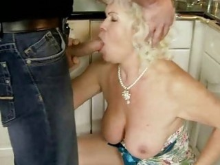 unsightly granny has sex with her lover