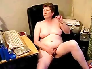 old lady masturbating totally naked