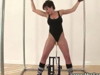 flexible excited mature wench