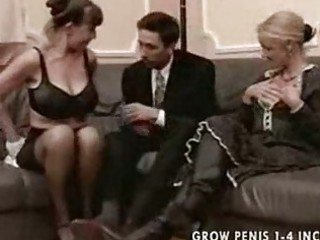 Granny and milf in stockings fuck part1