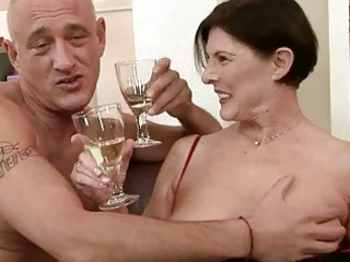 naughty granny receives her hairy bawdy cleft