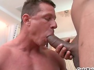 aged muscle chap engulfing dark dong part8