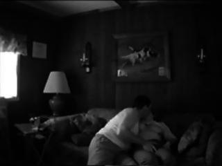 mature pair makes their own sex tape fucking on