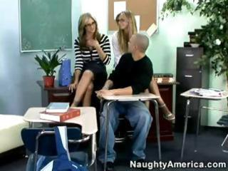 super-hot milfs give college guy a real amazing