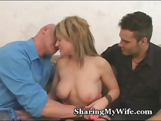 blond housewife proves that she is is a sex