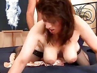 sexually excited older hottie in stockings screwed