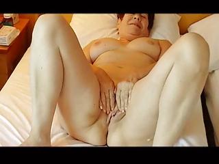 Watch my mature wife masturbate