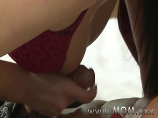mamma cougar wife bonks her lover