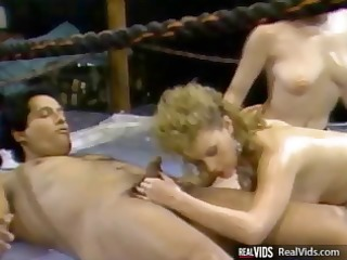vintage trio act with chicks and a penis in the