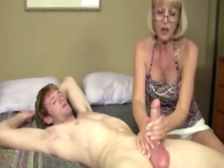 giving granny is giving a pecker massage